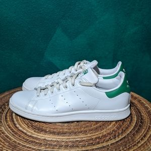 Adidas Stan Smith. White and green.